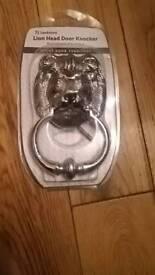 Sandleford chrome lion head door knocker