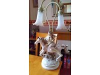 TABLE LAMP - DECORATIVE HORSE AND GIRL LAMP