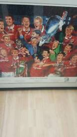 Manchester United Framed print Superb rare item