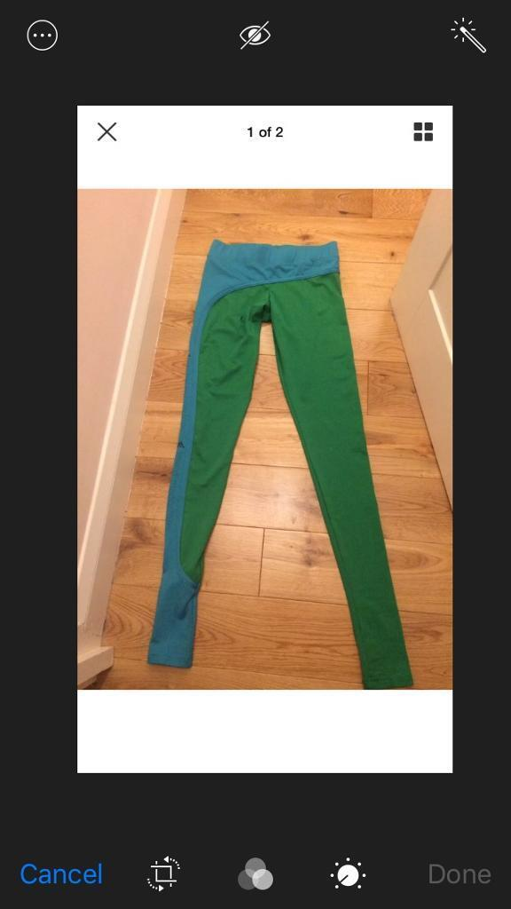 Adidas Stella McCartney leggings collants, xsin DundeeGumtree - Adidas Stella McCartney leggings collants, perfect for yoga, gym, sports and etc.Amazing colours, green and turquoise. Really eye catching and flattering look.Worm only once, in perfect condition, can still post with the tags.Size XS. Will fit 6 8....
