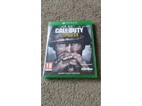 Brand new xbox one call of duty WWII