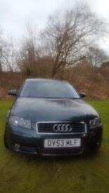 Audi A3 2003 2.0 Petrol Manual MOT until April 2017.