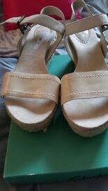 Leather canvas clarks sandals
