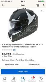 hjc armanda black helmet pretty much brand new got receipt box helmet bag instruscions