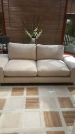 **Price Reduced** Barely Used Lovely Cream Sofa For Sale - Must Collect Balfron