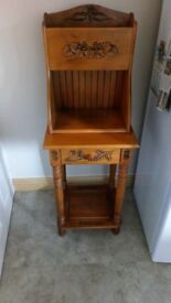 Carved wooden unit