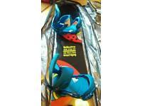 Bataleon 155 Evil Twin Snowboard, Burton Custom Bindings and Dakine Snowboard bag for sale