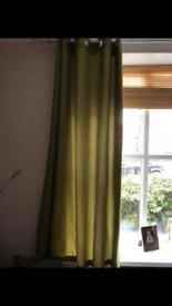 Green waffle curtaina