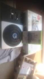 Xbox 360 DJ Hero deck new