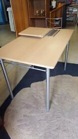 Flatpack Metal Dining Table and Three Chairs in Good Condition