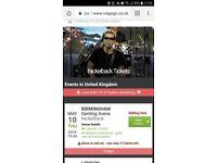 2 Nickelback tickets, standing, Genting arena tonight! 10/05/18