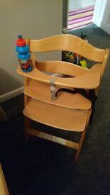 HAUCK wooden sturdy highchair