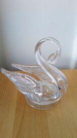 Edinburgh Crystal Swan Trinket Dish