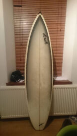 Surfboard with all the bits and bobs