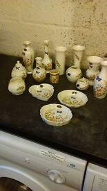 Job lot of anysley and brass ornaments