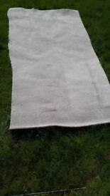 John Lewis deluxe 68oz cream/grey/greige polypropylene carpet remnant