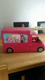 BARBIE CAMPER VAN AND POOL
