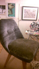 Ben Chairs in Silk Velvet X 2