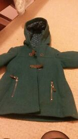 Gorgeous Teal Vertbaudet Winter Coat, girl, 5 years