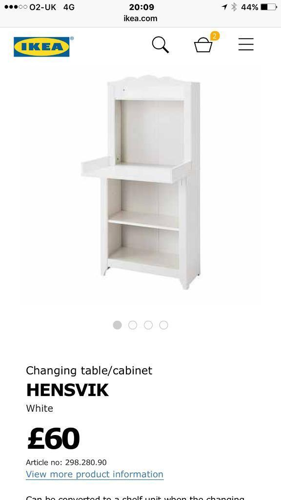Baby changing table HENSVIK