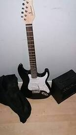 Electric guitar for sale been used like 2 or 3 times pm for more details