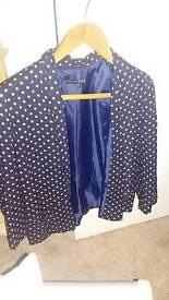 Navy and peach spotty blazer size 12