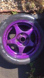 Custom painted alloy wheels