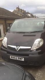 Vauxhall Vivaro 9 seater minibus 2012 Black 1995 cc very good condition