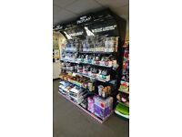 Shop Retail Shelving, lit, 2x 100cm wide