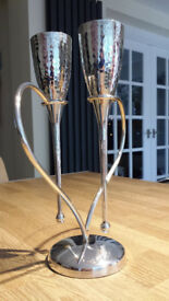 Beautiful champagne flutes, wedding/anniversary gift/toast, centrepiece, love glasses,