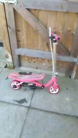 Girls pink space scooter