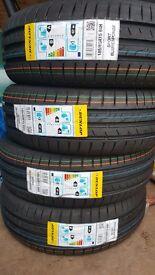 4 x Brand New Dunlop (Blue Response) Tyres 185/60R15 84H