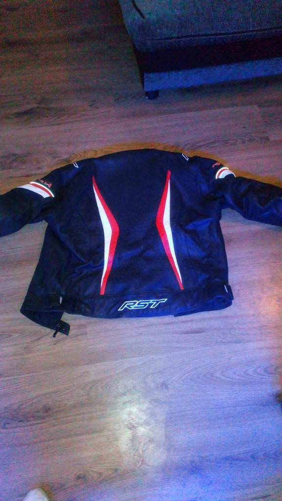 Red and black RST Biker jacket