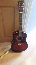 Rikter and Sierra 3/4 Acoustic Guitar - Sun Burst GOOD CONDITION