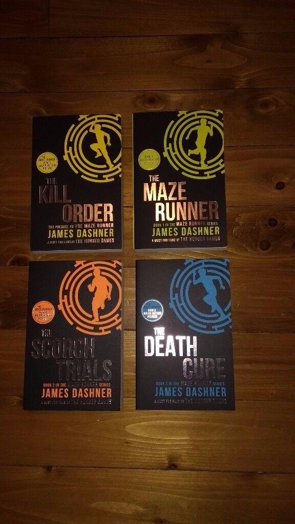 Maze Runner Book Series by James Dashner (set of 4). Excellent condition.