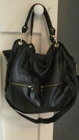 byStroom Bea black & gold stylish baby changing bag