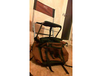 Ruchsack and chair