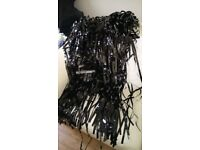 2 x black door curtains. ideal for parties