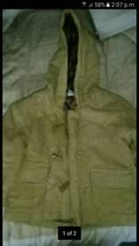Boys winter coat age 12 - 18 months