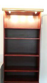 Ikea Billy Bookcase Mahogany with display light BARGAIN