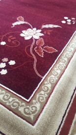 HEAVY DUTY THICK RELIABLE RUG STABLE COLOURS EASY TO CLEAN 160X230 CM Red/Cream/Green/Beige/Pink