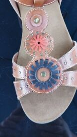 Size 8 M&S beaded detail sandals