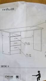 Home office desk with drawers - collection only