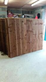 Pressure treated vertical board heavy duty wood fence panels