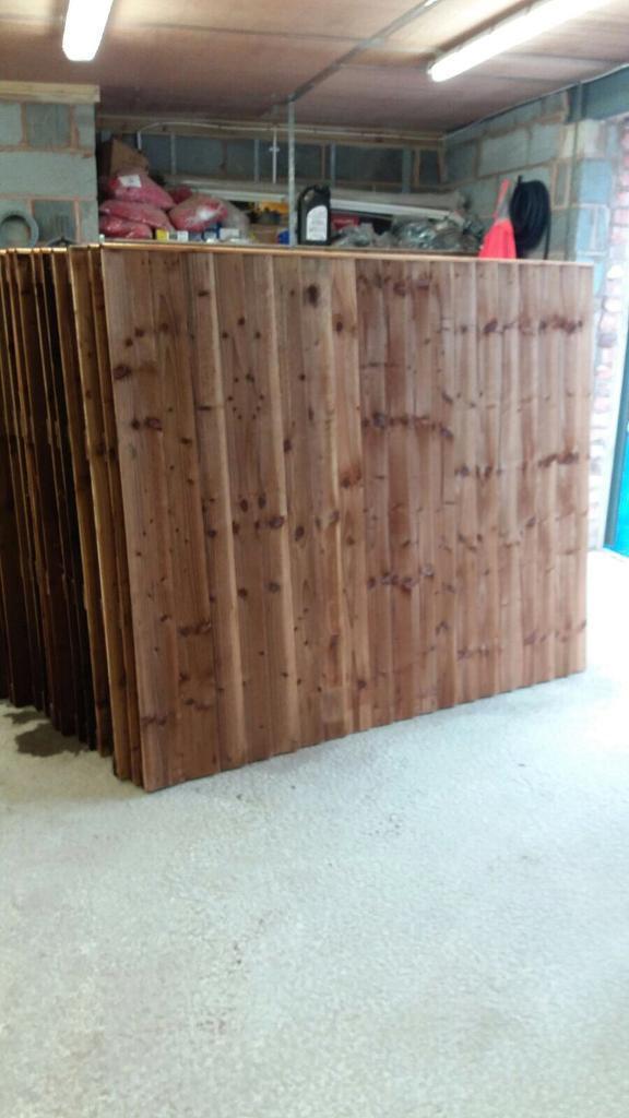 Pressure treated vertical board heavy duty wood fence panels
