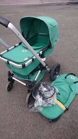 Bugaboo Gecko Pram/Pushchair in Green REDUCED TO CLEAR