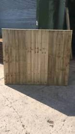 Featheredge fence panela