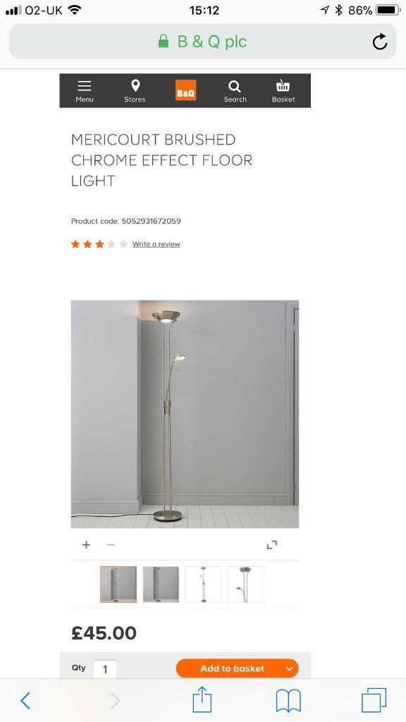 Bq floor lamp in toton nottinghamshire gumtree bq floor lamp aloadofball Choice Image
