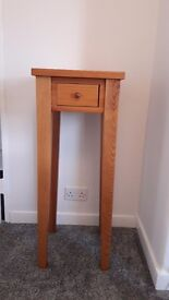 Solid Pine Tall Lamp Table