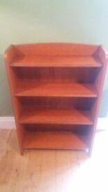 Retro style solid pine book shelf